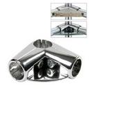 UNO 06 Соединитель угловой 3-х труб с полкой 8359 (R 06)