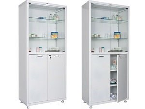 Металлический медицинский шкаф HILFE МД 2 1670/SG