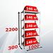 Стеллаж MS STRONG 220x100x30 (5 полок)
